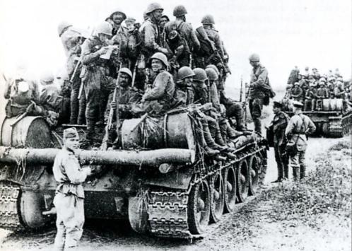 Танковые десанты пехоты советская