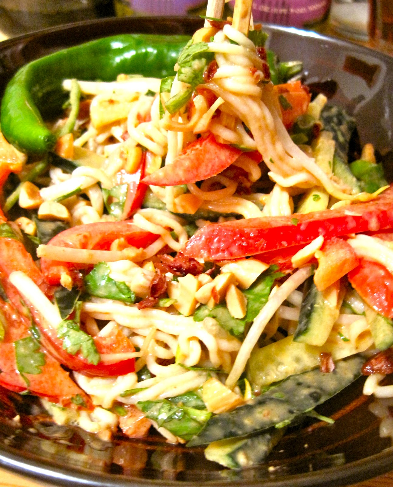 Kvell in the Kitchen: Spicy Peanut Noodles