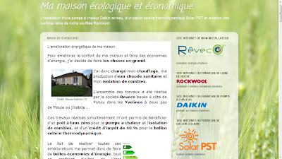 Les blogs client reveco daikin rockwool solar pst for Univers du jardin maule 78