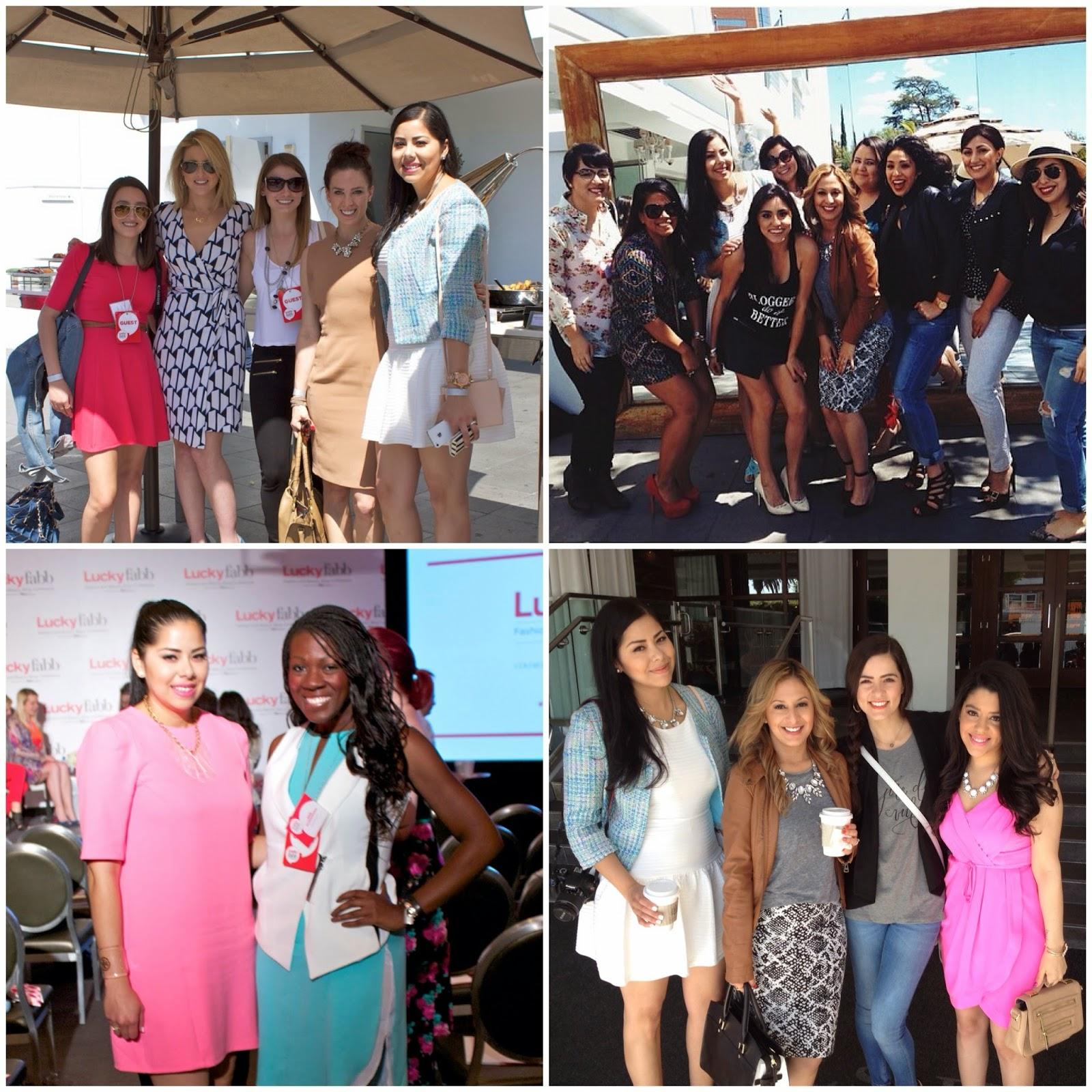 LuckyFabb bloggers mingling