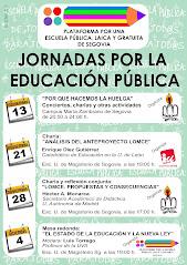 JORNADAS POR LA EDUCACIÓN PÚBLICA