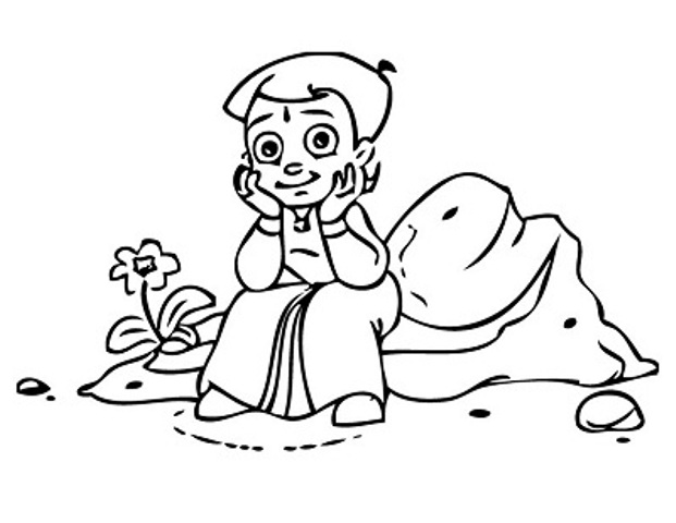 chota bheem team coloring pages - photo#3