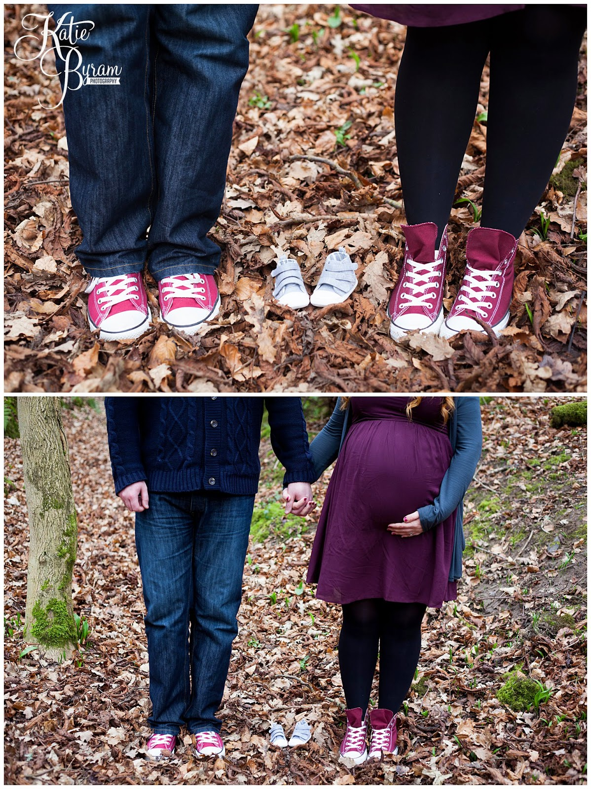 maternity photoshoot, maternity photos, northumberland photoshoot, maternity photography, katie byram photography, woodland maternity shoot, converse, mum and dad to be, coming soon, pregnancy photographs