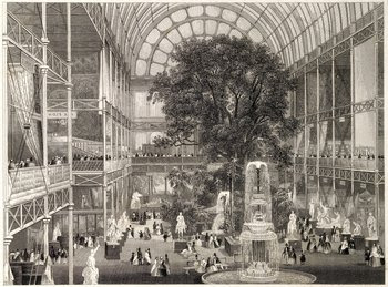 Steel engraving of the 1851 Great Exhibition, Crystal Palace Credit: Wellcome Library, London