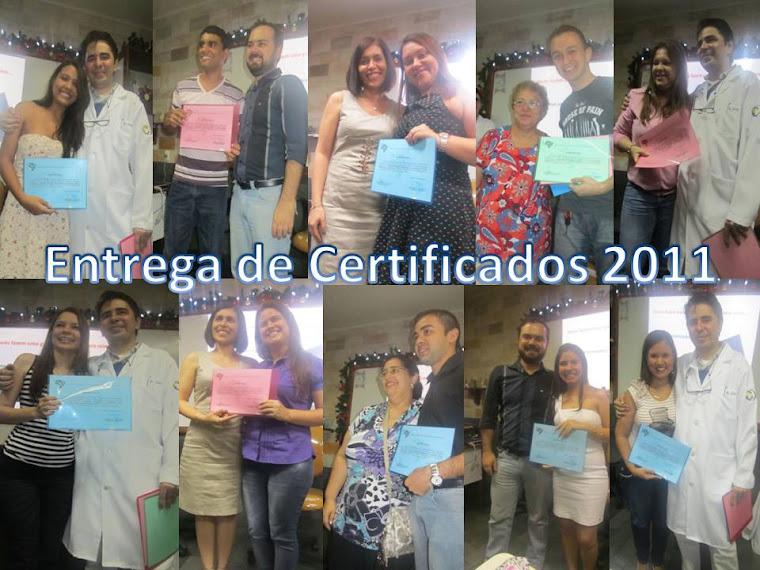 ENTREGA DE CERTIFICADOS 2011