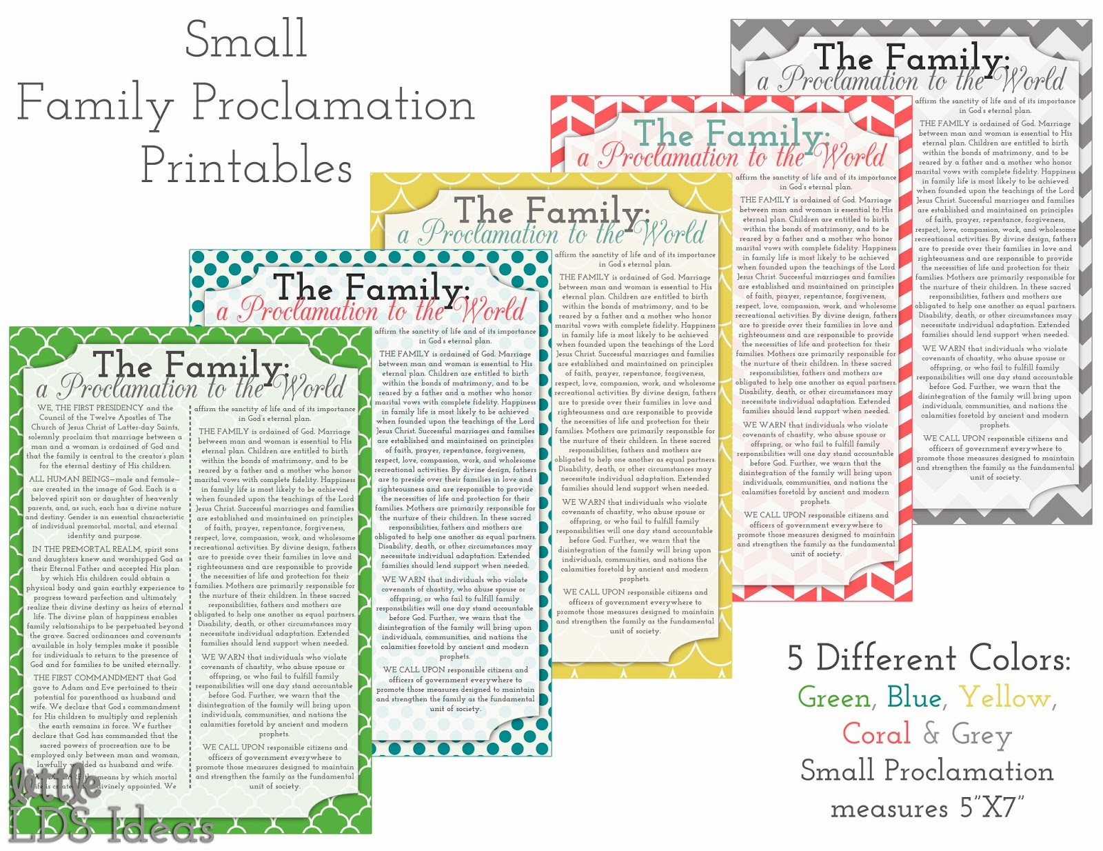 ... Family: A Proclamation to the World - Little LDS IdeasLittle LDS Ideas