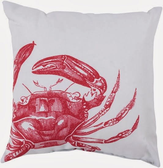 Ruby Red Sealife Pillows