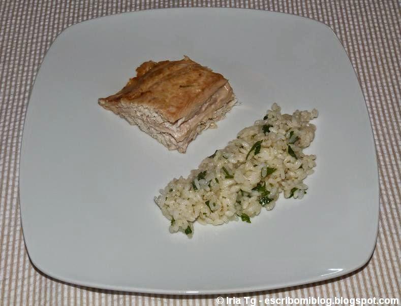 castañeta rellena de pavo y queso