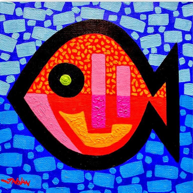 Cuadros pinturas oleos im genes modernas cuadros con peces - Cuadros con peces ...