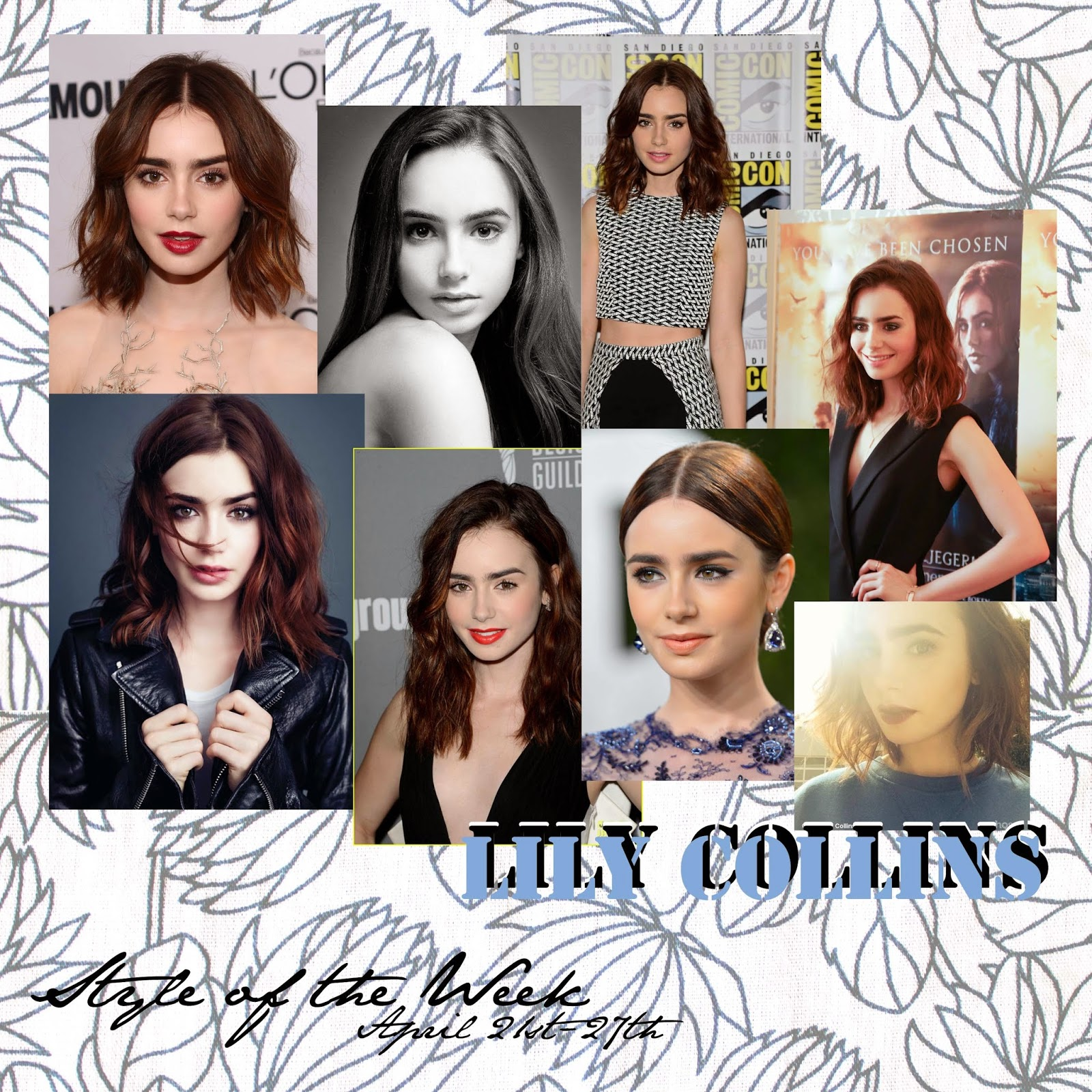 STYLE OF THE WEEK : LILY COLLINS