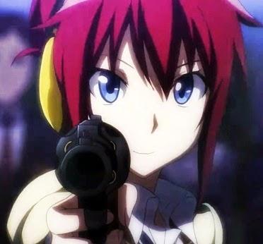 uma arma na cintura da trapezista ruivinha Sakurai, e eu percebo que o anime não vai ser tão parado assim