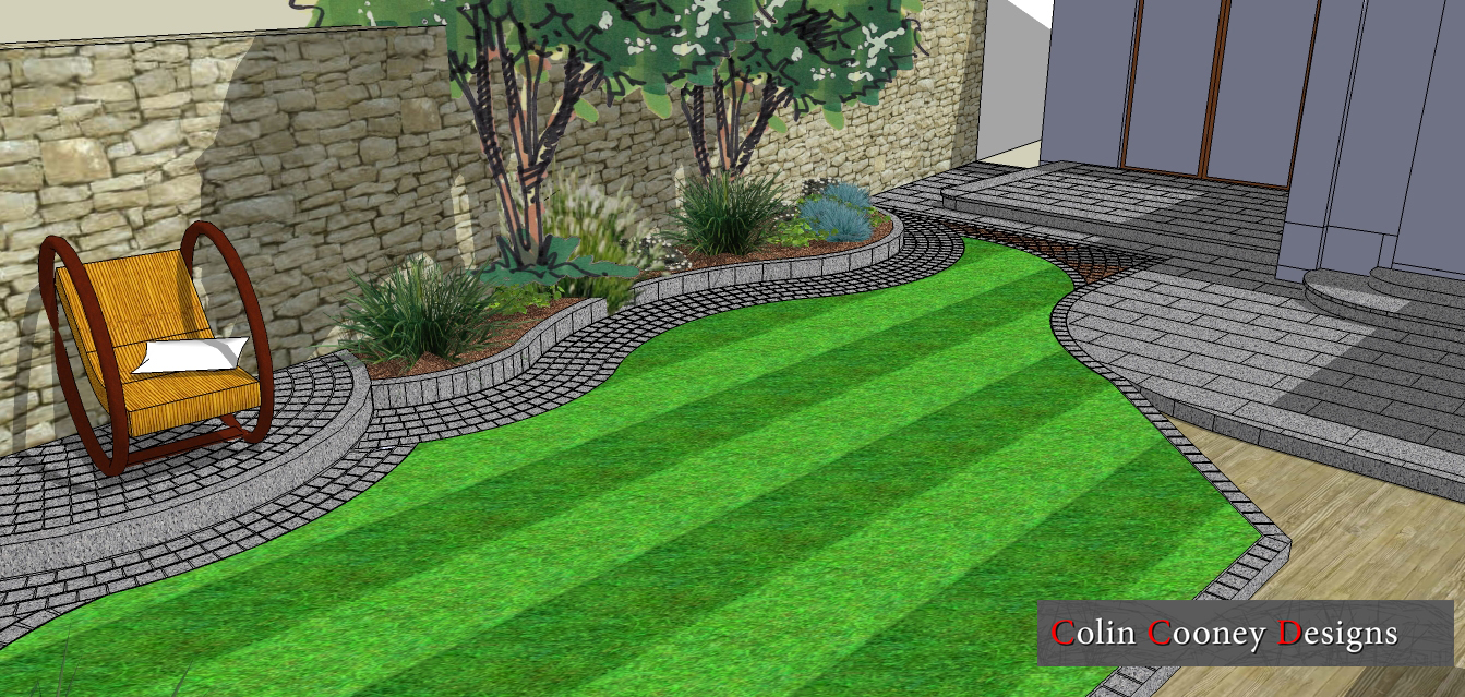 Garden Plans For Small Backyard : Colin Cooney Designs Cosy RetreatSmall Garden Design, South Dublin
