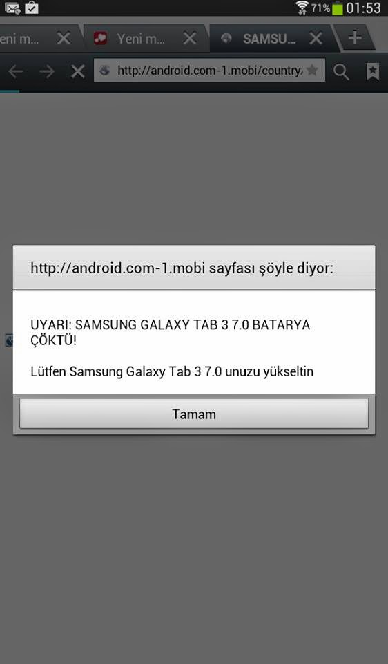 Samsung Batarya Çöktü Sorunu