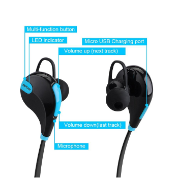 Top Bluetooth Earbuds - Mpow Swift Bluetooth 4.0 Wireless Stereo Sweatproof Jogger, running headphones