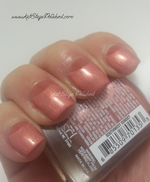 JulieG Nail Color - Chic Cipro & Southwest Sunset Half Moon Manicure