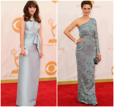 deschanel sisters 2013 emmys fashion