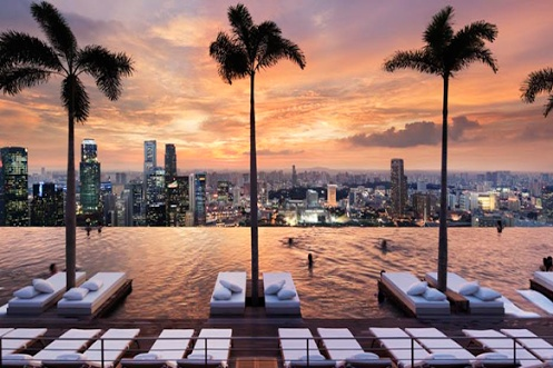 Marina Bay Sands Otel Singapur Infinity Havuzu