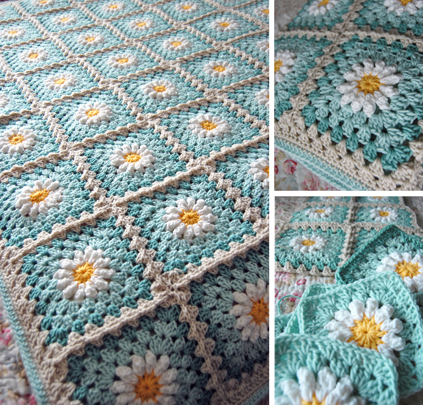 Crochet Daisy Flower Blanket Pattern : tillie tulip - a handmade mishmosh: Donnas daisy blanket ...