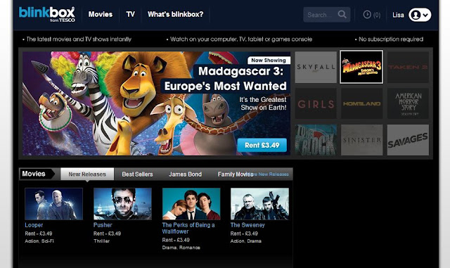 Blinkbox from Tesco Review Watch Movies Online