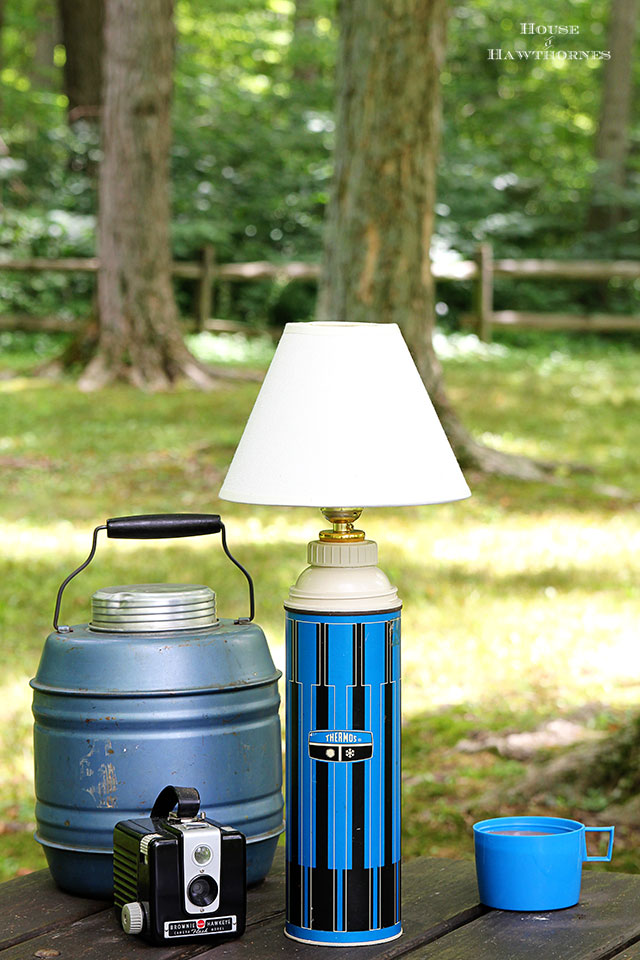 DIY tutorial for turning a thermos into a lamp
