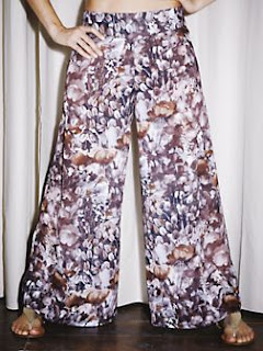 floral widelegged palazzo pants