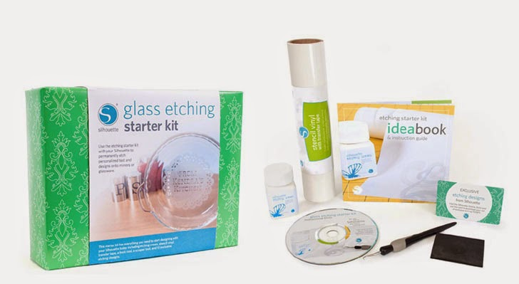 Glass etching Starter Kit Silhouette