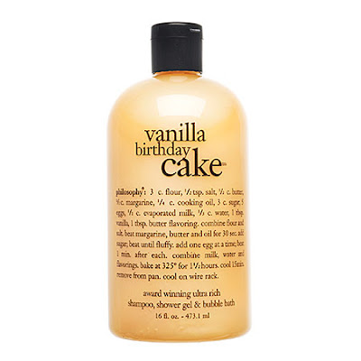 Philosophy, Philosophy Vanilla Birthday Cake Shampoo Shower Gel Bubble Bath, Philosophy 3-in-1, shampoo, shower gel, body wash, bubble bath