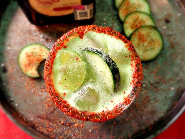 Margaritas de Pepino - lacocinadeleslie.com