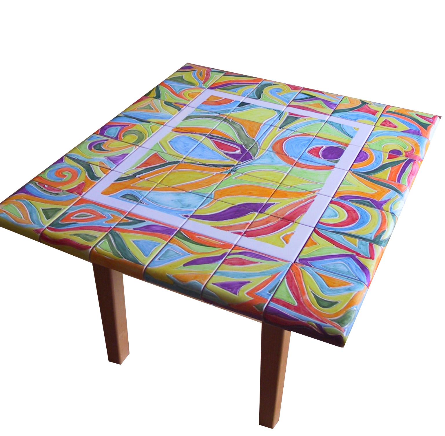 tavoli in ceramica : Vico Condotti: Tavoli da interno e da giardino in ceramica