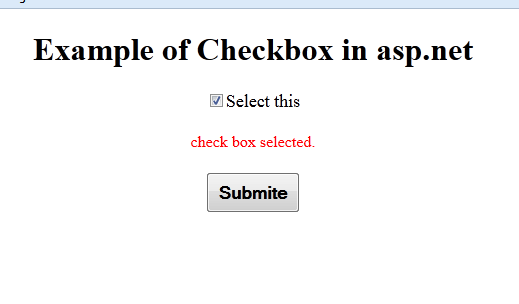 checkbox Is checked in asp.net