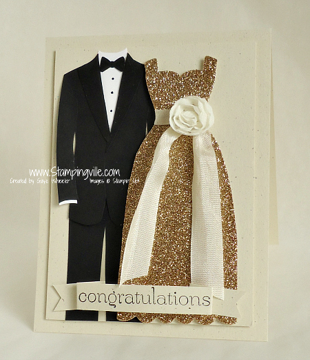 Stampin' Up! Dress Up Framelits Congratulations Card