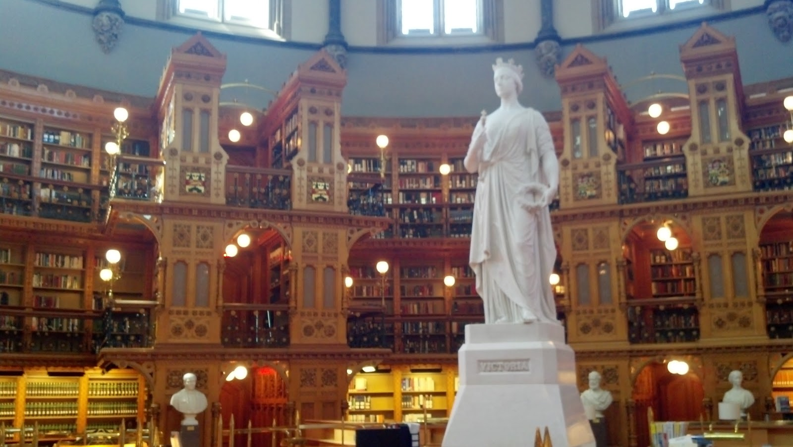 Statue of Queen Victoria in the Ottawa Library of Parliament