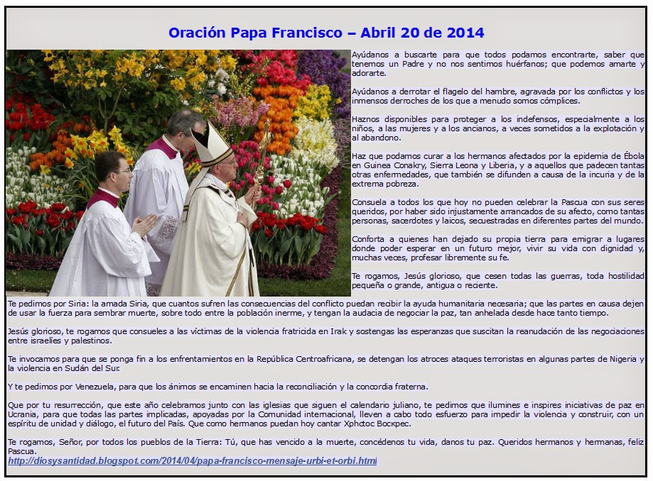 Oración del Papa Francisco