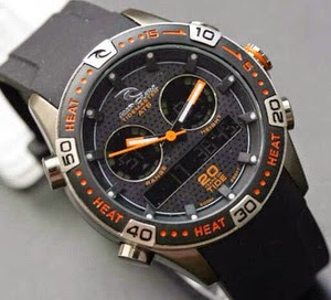 Jam Tangan Ripcurl Orbit Rubber Black-Orange