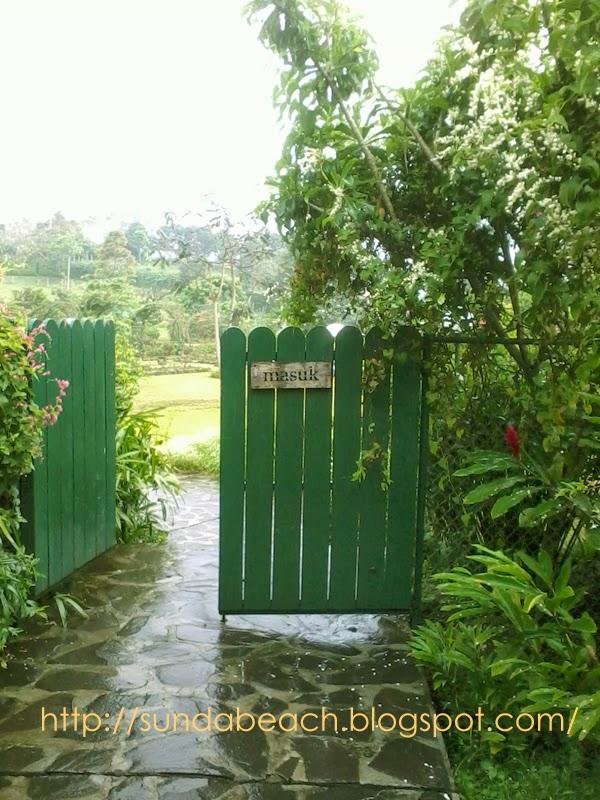 kebun mawar situhapa entrance garut west java indonesia
