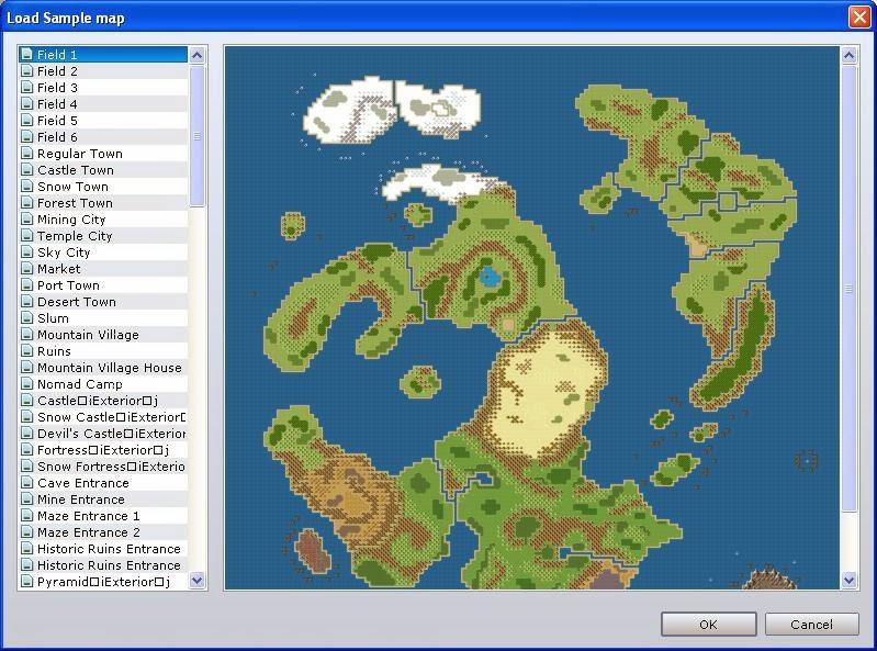Tutorial rpg maker vx ace crear tipos de mapas programa videojuegos alguno nos vamos al rbol de mapas pulsamos botn derecho sobre el mapa y seleccionamos load sample map aparecer una ventana como la siguiente gumiabroncs Image collections