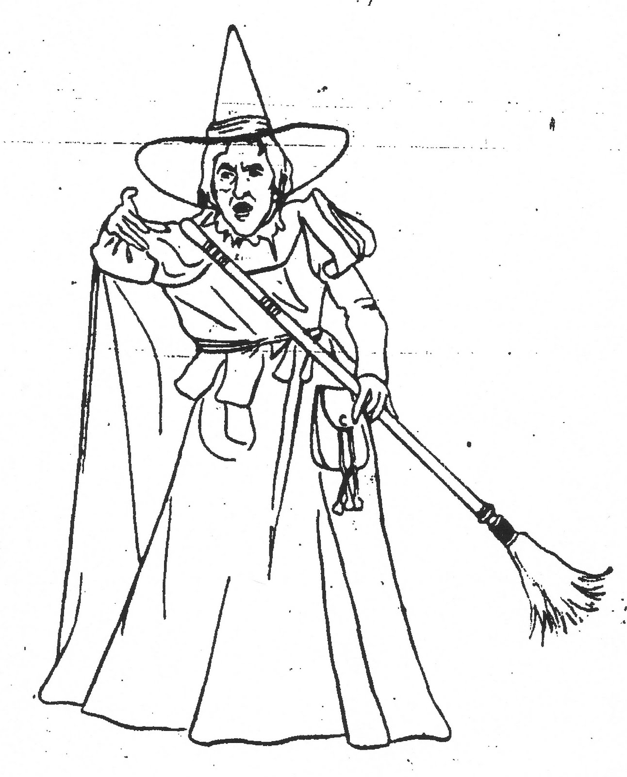wicked witch coloring pages - photo#4