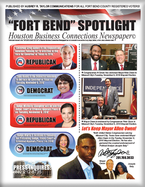 MAYOR ALLEN OWEN, OTHER 2018 FORT BEND COUNTY CANDIDATES