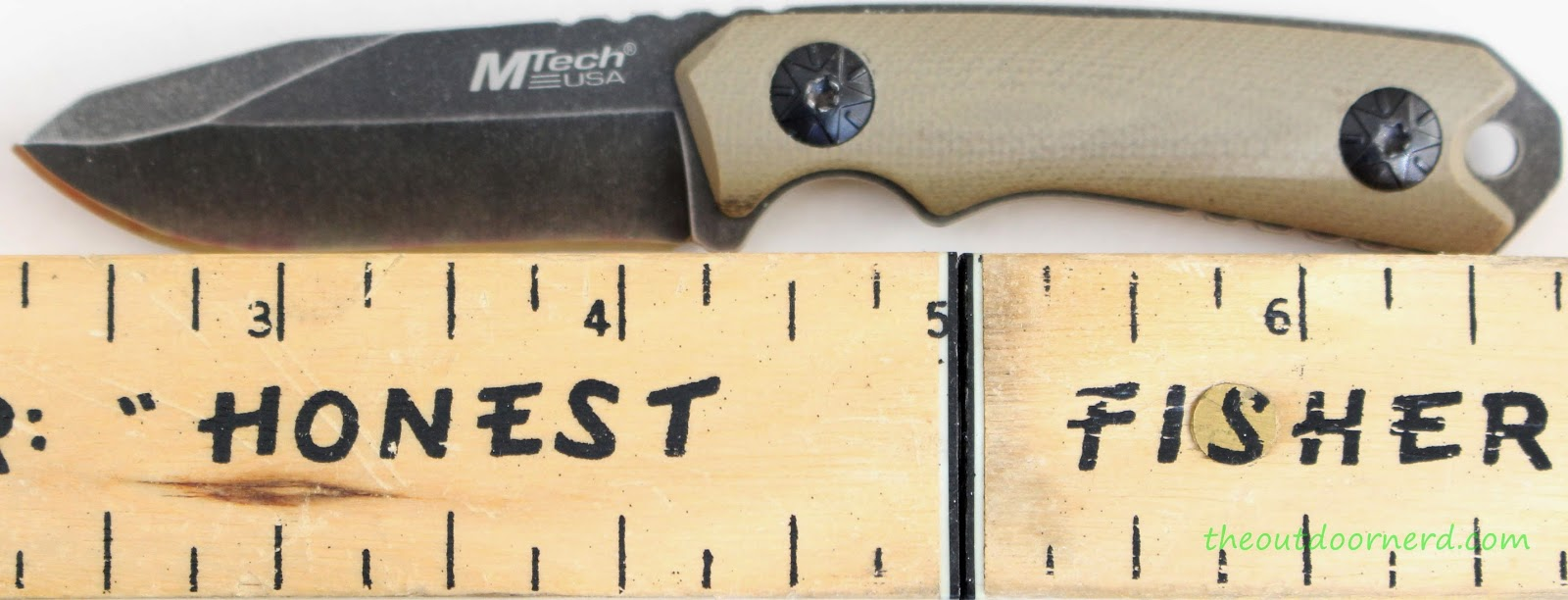 MTECH MT-20-30 Fixed Blade Knife: Next To Ruler
