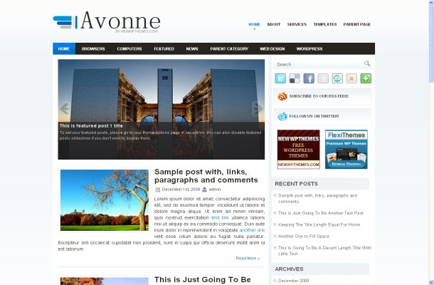 Blue Abstract Business Free Wordpress Theme