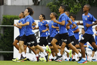 Treino do Santos FC 2013