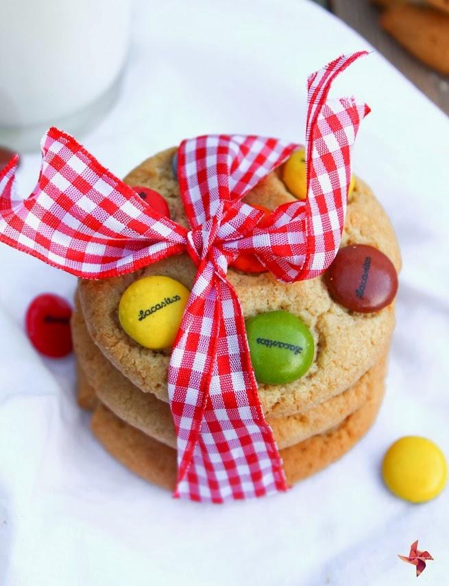 Receta de galletas para niños - Cookies de Lacasitos