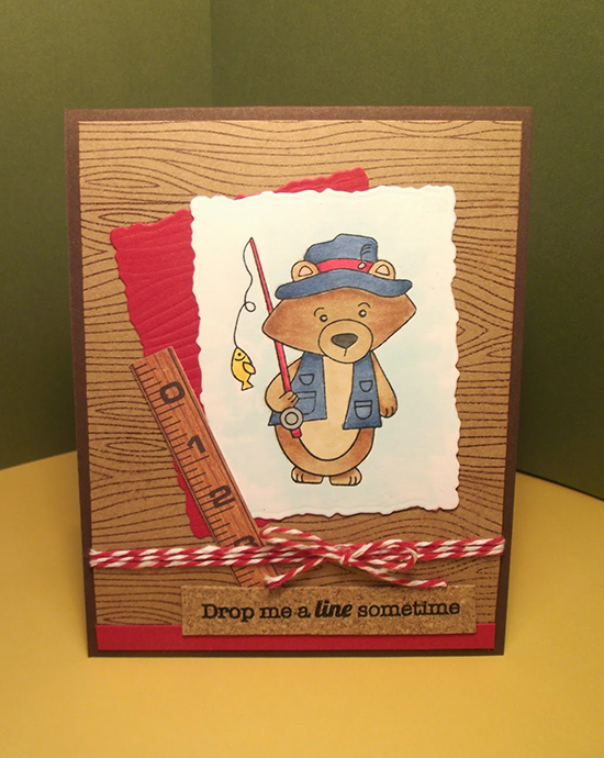 Fishing Bear card by Kelli | Newton's Nook Designs