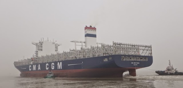 The CMA CGM VOLGA, 8th of the 28 vessels named after rivers series