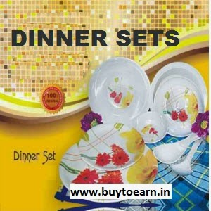 Pepperfry : Buy Dinner Sets upto 60% off & 10% off & 5% off