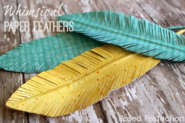Whimsical Paper Feathers-Top 10 Crafts/DIY/Tips of 2014