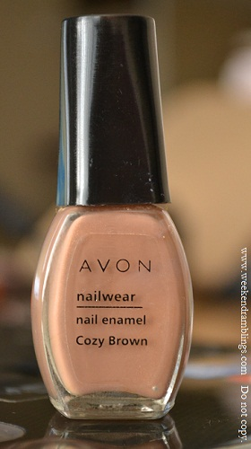 avon nailwear nail enamel polish notd cozy brown