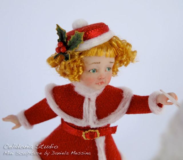 Caro Babbo Natale - OOAK Doll in Pasta Sintetica in Scala 1/12