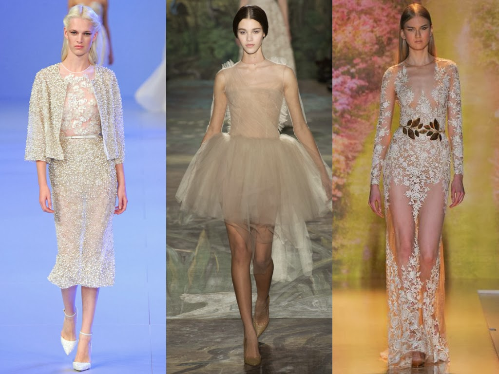 elie saab, valentino and zuhair murad spring 2014 off-white looks