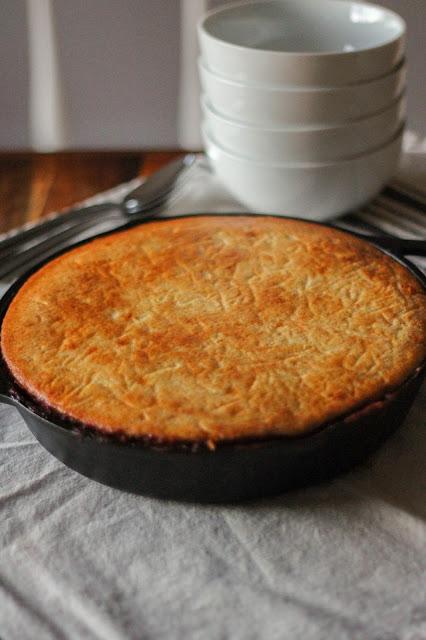 Skillet Cornbread & Chili Pie | The Chef Next Door